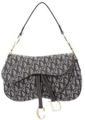 Christian Dior Diorissimo Double Saddle Bag