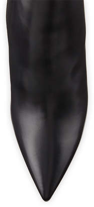 Givenchy Strettoia Leather Pointed-Toe Ankle Boots