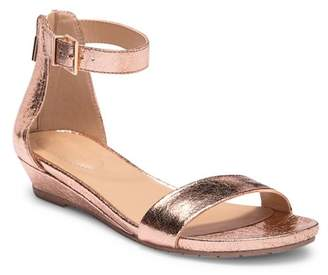 Kenneth Cole Reaction Great Viber Metallic Wedge Sandal