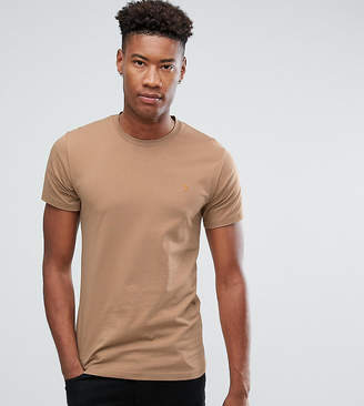 Farah Farris slim fit logo t-shirt in sand