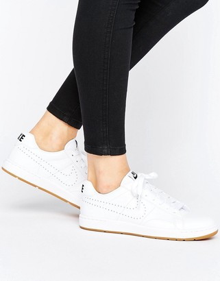 Nike Tennis Classic Sneakers In White With Gum Sole
