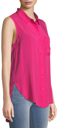 Velvet Heart Madden Sleeveless Button-Front Tunic