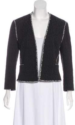 L'Agence Textured Open-Front Jacket