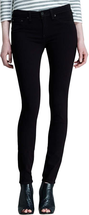 Rag & Bone The Legging Jeans, Black Plush