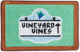 Vineyard Vines x Smathers & Branson Beach Sign Needlepoint Card Case