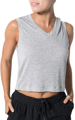925 Fit Miami Hit V-Neck Cropped Tee