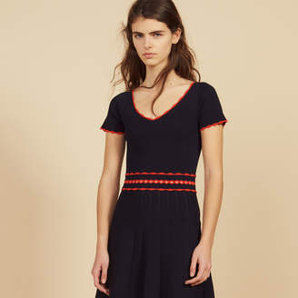 Sandro Short knit dress with pleats