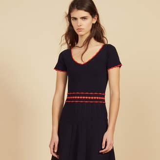 Sandro Short knit dress with pleats