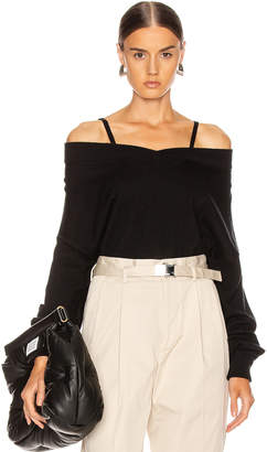 Maison Margiela Elbow Patch Sweater in Black | FWRD