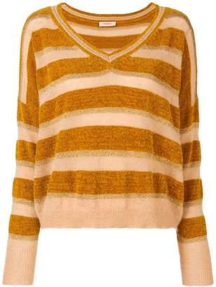 Twin-Set striped V-neck sweater