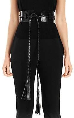 Carolina Herrera Women's Leather Corset Belt
