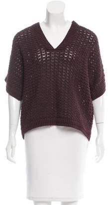 3.1 Phillip Lim Open Knit Short Sleeve Sweater
