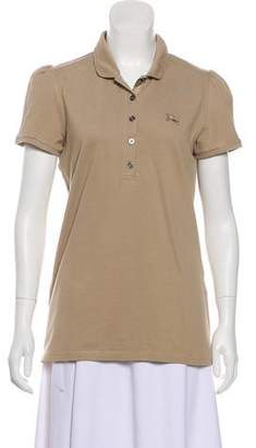 Burberry Collared Short Sleeve Top