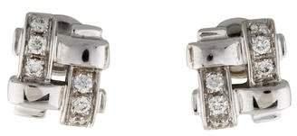 Tiffany & Co. 18K Diamond Woven Studs
