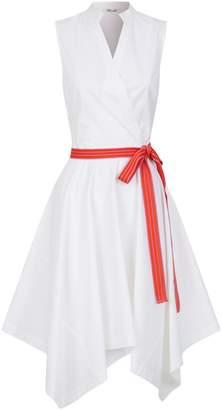 Diane von Furstenberg Stretch-Cotton Marlene Asymmetric Dress