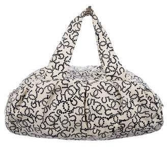 Chanel Printed Canvas Bowling Bag