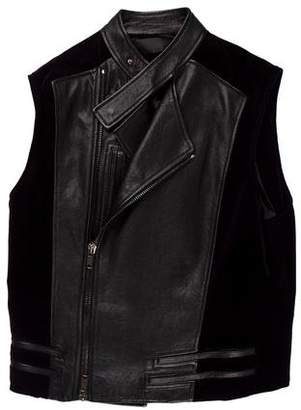 Haider Ackermann Velvet and Leather Vest