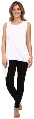 Miraclebody Jeans Gigi Side Drape Blouse w/ Body-Shaping Inner Shell Women's Blouse
