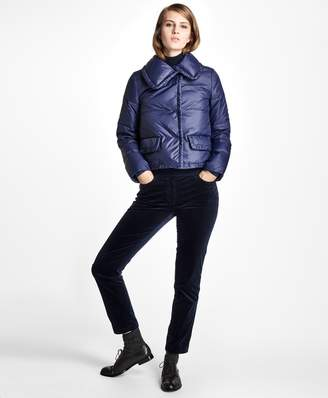 Brooks Brothers Cropped Puffer Jacket