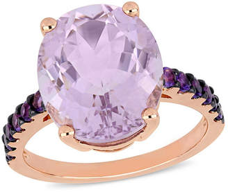 Macy's Amethyst (7-7/8 ct.t.w.) Ring in 18k Rose Gold over Sterling Silver