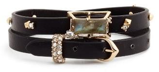 Women's Alexis Bittar Geo Leather Wrap Bracelet & Choker $175 thestylecure.com