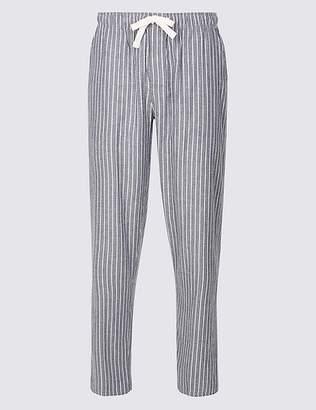 Marks and Spencer Cotton Tencel Blend Long Pyjama Bottoms