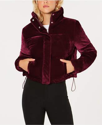 Joujou Jou Jou Juniors' Cropped Velvet Puffer Coat