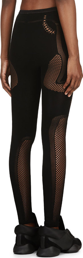 McQ Black Mesh Leggings