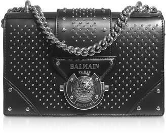 Balmain Black Studded Leather Top Handle Mini Bag