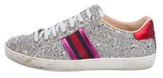 Gucci Glitter Low-Top Sneakers Silver Glitter Low-Top Sneakers