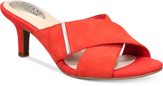 Alfani Women's Step 'N Flex Larrk Kitten-Heel Slip-On Sandals, Only at Macy's Women's Shoes $69.50 thestylecure.com