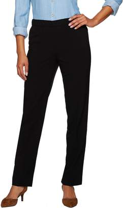 Susan Graver Chelsea Stretch Comfort Waist Straight Leg Pants - Regular