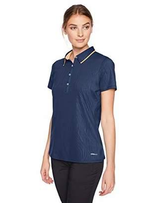 Cutter & Buck Women's Moisture Wicking UPF 50+ Emboss Short Sleeve Polo Shirt