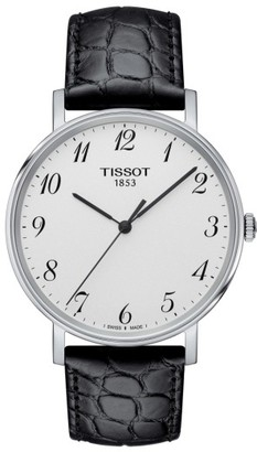 Men's Tissot Everytime Leather Strap Watch, 38Mm $185 thestylecure.com