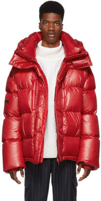 Juun.J Red Down Puffer Jacket