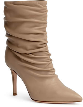 Gianvito Rossi Cecile 85 beige ankle boots