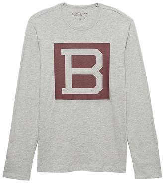 Banana Republic Soft Wash Long-Sleeve Graphic Crew-Neck T-Shirt