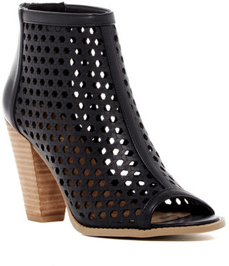 Report Ronan Perforated Peep Toe Bootie $60 thestylecure.com