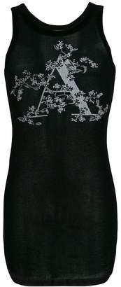 Ann Demeulemeester floral typographic vest