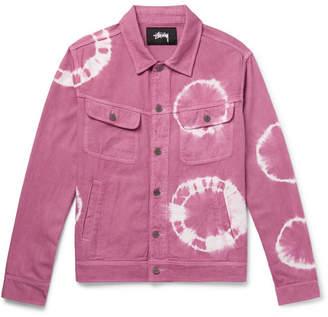 Stussy Tie-Dyed Denim Trucker Jacket