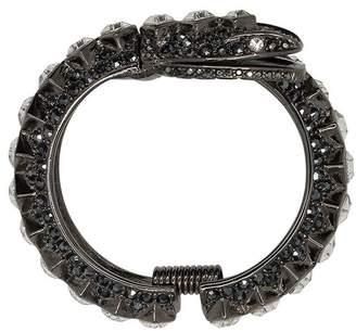 Kenneth Jay Lane Hematite And Crystal Snake Bracelet