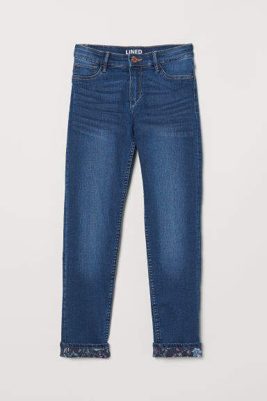 H&M - Skinny Fit Lined Jeans - Blue