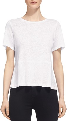 Whistles Linen Peplum Tee $95 thestylecure.com