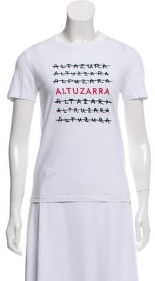 Altuzarra Logo Print Short Sleeve Top