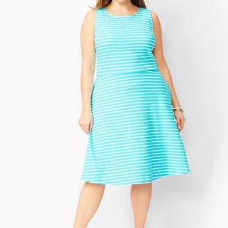 Talbots Edie Knit Fit & Flare Dress - Stripe