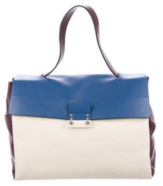 Valentino Leather Mime Satchel