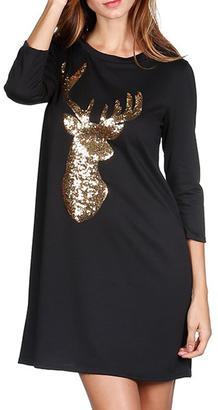Million Bullpup Deer Sequin Tunic $34 thestylecure.com