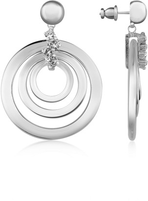 A-Z Collection Silver-plated Drop Earrings