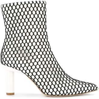 Tibi Mason fishnet boots