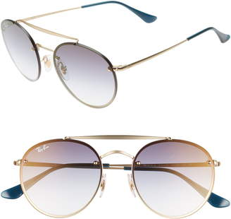 Ray-Ban 54mm Polarized Gradient Round Sunglasses